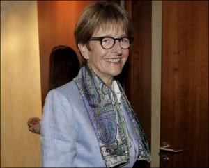 Présidente de l'Assemblée Parlementaire du Conseil de l'Europe à Strasbourg