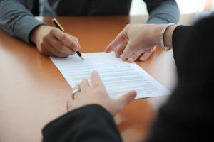 Menace pour la signature d'une rupture